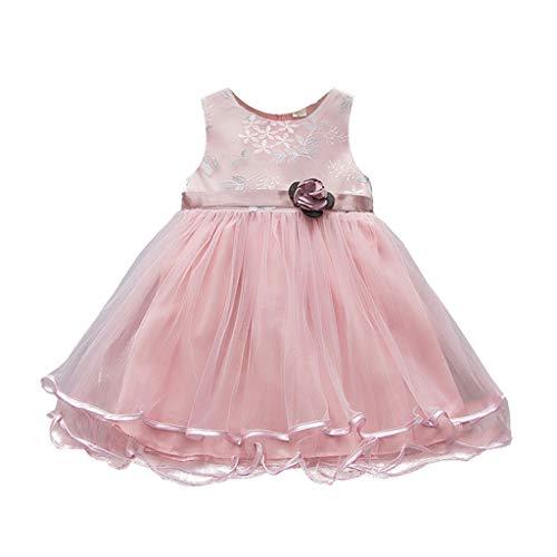wuayi  Mädchen Blumen Tüll Kleid Prinzessin Kleider Party Kleid Kleidung Outfits 6 Monate - 3 Jahre