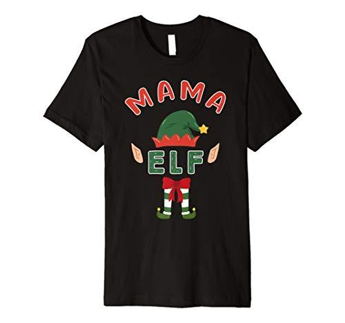 Mama Elf Passende Elfen Familie Weihnachten Schlafanzüge T-Shirt