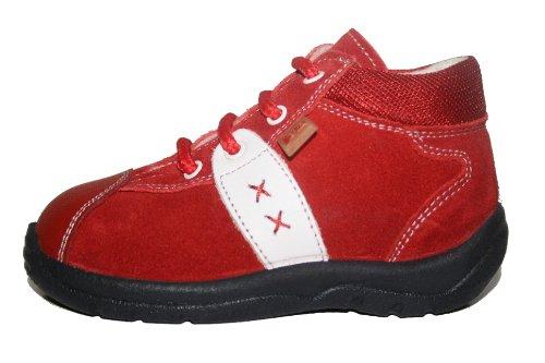 Jela , Chaussures souple pour bébé (garçon) Rouge (rouge/blanc)
