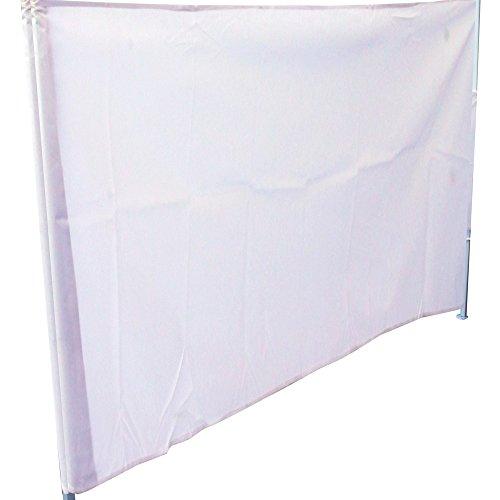 Cablematic - Lona lateral completa para carpa plegable de 250cm blanca