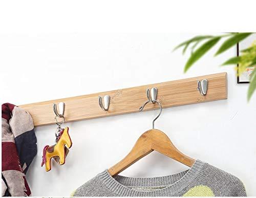 WEII Solid Wood Coat Rack Kreative Mehrzweck-Mantel Haken Home Wand Dekoration Storage Supplies,Log Farbe gerad,8 Haken - Log-mantel