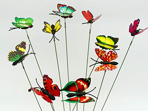 Bobopai Miniature Garden Fairy Ornament 10pcs Butterflies on Sticker (Multi) -