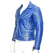233 speed hombre chaqueta de moto de cuero de brando moto azul vaca real hide