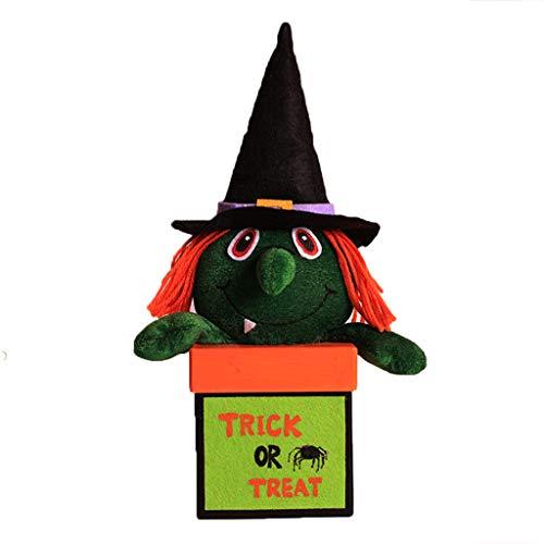 Exing Halloween Candy Bags Süßigkeitstasche Candy Totes Bag Kostüm Zubehör Totes Bag,Stoff, Papier (D # Hexe)