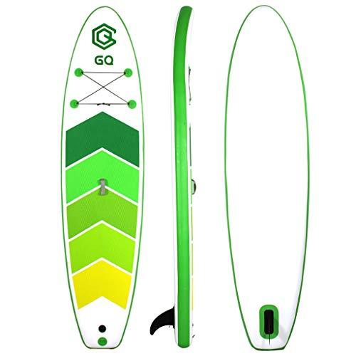 ZLBZBB Aufblasbares Surfbrett, für Erwachsene, Wasserski, Paddelbrett, Surfbrett, verstellbar, 305 x 76 x 15 cm, Tragkraft 140 kg