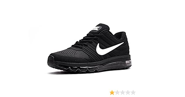 pretty nice 45ea1 aead0 Nike AIR MAX 2017 Mens Black Running Sports Shoes  Buy Online at Low Prices  in India - Amazon.in