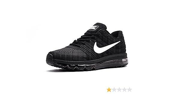 Nike AIR MAX 2017 Mens Black Running Sports Shoes: Buy