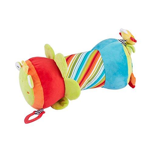 *solini Krabbelrolle Froschkönig – Stoff-Rolle mit verschiedenen Spielmöglichkeiten – hilft Babys bei ersten Krabbel- & Gehversuchen – bunt*