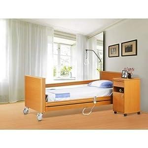 Smart Reha – Orthopädisches elektrisches Bett 90 cm – Aufstehhilfe inkludiert