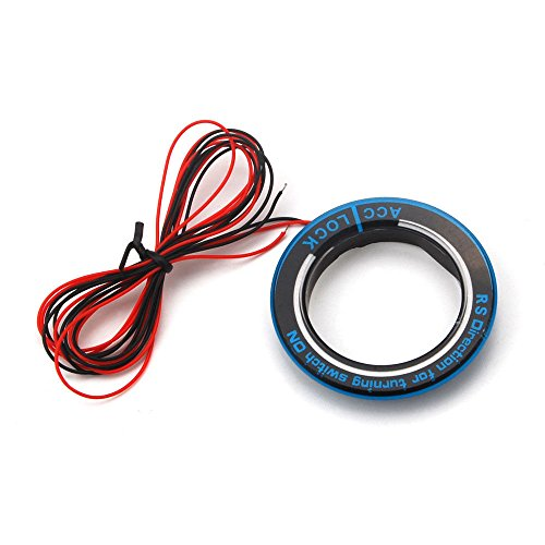 Licht Trim-ring (Daxey Auto Ignition Engine Start Key Lock Ring Trim mit LED-Licht Blau f¨¹r Ford Kuga Flucht Fokus 2005-2016)
