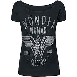 Wonder Woman Freedom Camiseta Mujer Negro L