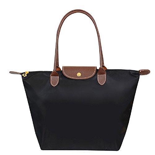 designer-nylon-waterproof-tote-bag-free-gift-silicone-purse-large-black