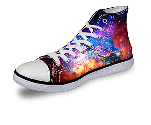 Galaxy Hi Top Ladies Canvas Trainers Shoes Low Top Flat Lace Up Plimsolls Pumps C0161AK New UK 10 = EUR 43 (Men's) Kicker Subs