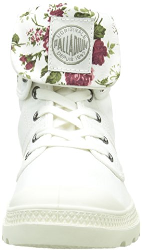 Palladium Baggy Twl, Boots femme Blanc Cassé (557 Off White/Flower)