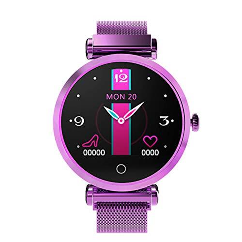 Laile Fashion Smartwatches R6 Damenmode Pulsmesser Blutdruck Uhr Schrittzähler Für Android IOS, Volle Touch-Steuerung, Rekord-Regelblutung, Sicher Zeitraum