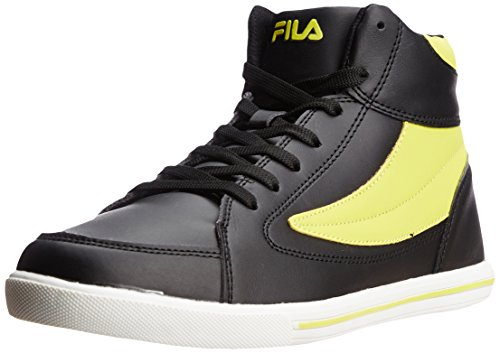 FILA Men's Street Mate Black and Neon Sneakers - 10 UK/India (44 EU)