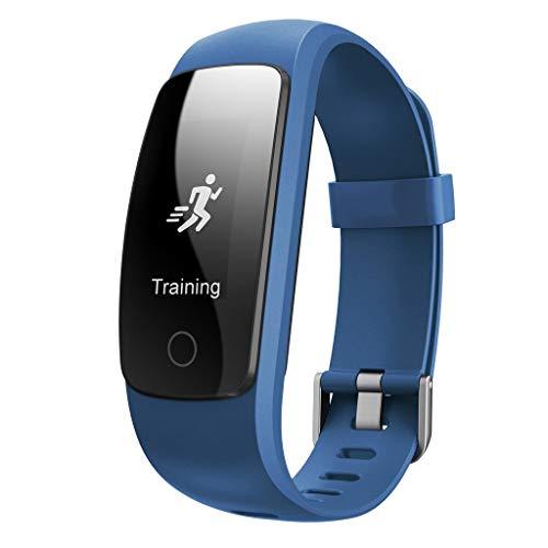 WAOTIER Fitnesstracker Sportmodus Fitnessarmband Smartwatch Whatsapp FB Anruf Benachrichtigung Pulsmesser Für IOS Android Sportuhr Schrittzähler Fernsteurung Aktivitätsarmband Kalorienzähler (Blau)