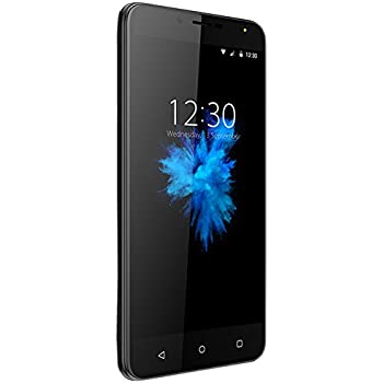 4G Smartphone Ohne vertrag 5,5 Zoll, 2GB+16GB, Android 7.0 Dual Sim Handys, 8MP+5MP Kamera, HD 1280 * 720 Bildschirm, Akku 2970mAh, Wieppo S6 Unlocked Smartphone Bluetooth GPS OTG (Schwarz)