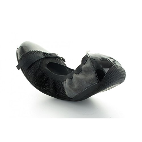 Les P'tites Bombes ballerina, in mogano, colore: nero/grigio - nero