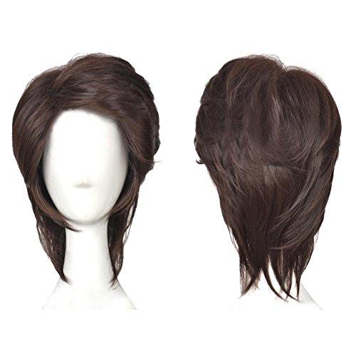 Flynn Reiter Perücke Wig Film Cosplay Kostüm Kurz Braun Haar Hair Zubehör für Männer (Tangled Erwachsene Kostüm)