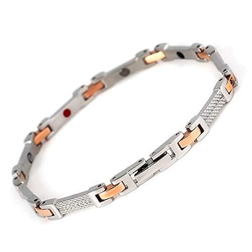 Jackys Silber Rose Gold Armband Magnet Anion Lady Edelstahl Armband Zur Schmerzlinderung Bei Arthritis Und Karpaltunnel -