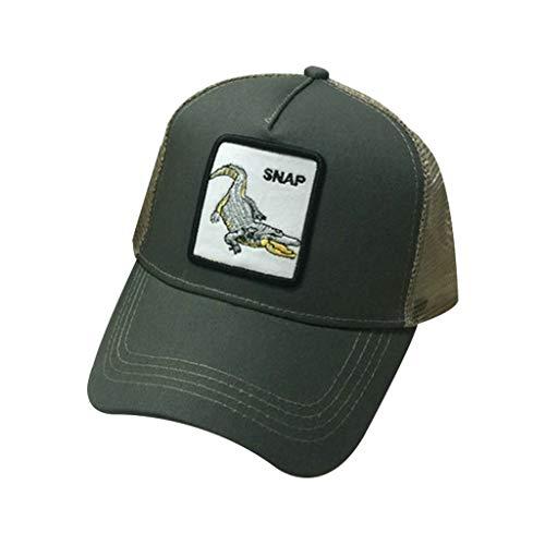 21a4239ca1b22 JOYKK Parejas Gorra de béisbol Animales Parche Bordado Hip Hop Malla  Patchwork Ajustable Snapback Trucker Hat