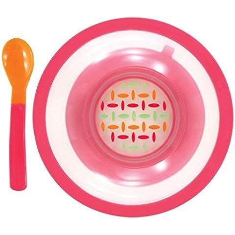 nurtria antiscivolo–ciotola e cucchiaio set - Tab Piastra