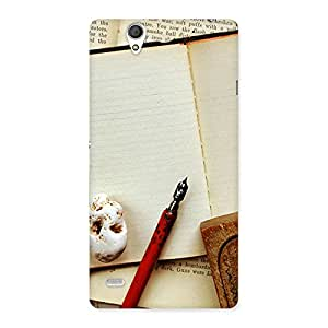 Gorgeous Little Diary Multicolor Back Case Cover for Sony Xperia C4
