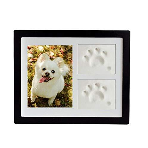ZYHLL Hund oder Katze Tatze druckt Hunde Memory Box Perfekte Pet Memorial Lehm Impressum Lehmform für Paw Print Bonus Schablone für Haustier-Liebhaber und Gedenkstätten,Schwarz