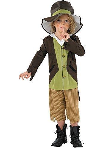 Jungen Artful Dodger Schlecht Viktorianischer Bengel Taschendieb Kostüm Verkleiden Outfit 3-8 jahre - (Kind's Dodger Artful Kostüm)