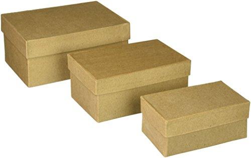 Darice-in cartone Paper Mache-Scatola rettangolare-4