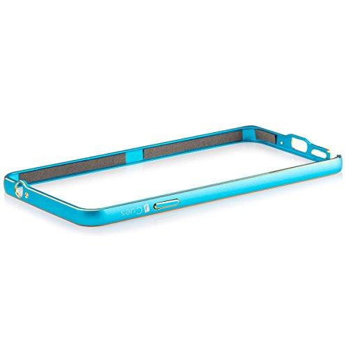 iCues AV78 BICOLOR ALU Bumper Hülle für Apple iPhone 5/5S silber türkis