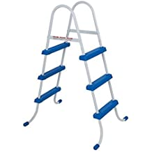 Intex 28062 - Escalera para piscina (122 cm, acero inoxidable, tres peldaños)