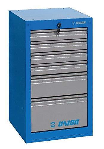Unior Schrank, 6-Schubladen, schmal, 475 x 650 x 870 mm, 1 Stück, 990ND6