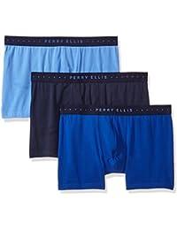 Perry Ellis Men's 3 Pk Cotton Stretch Solid Boxer Briefs