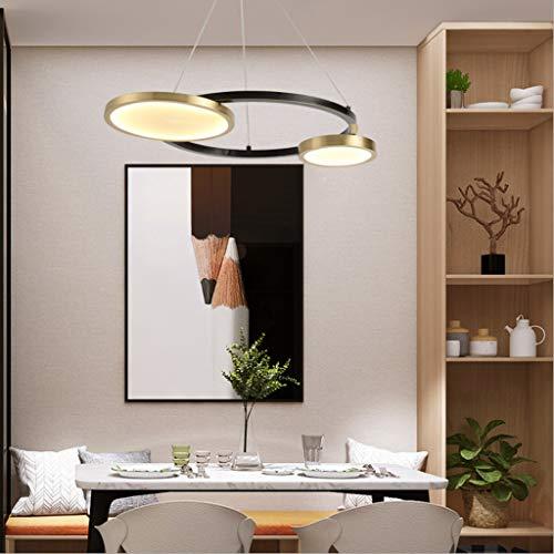 Amerikanische Art, die Leuchter-Spitzenwohnzimmer-Lampen, Luxuxschlafzimmer-Lichter, moderne europäische kupferne Leuchter-Mode-Esszimmer-Lichter verdunkelt (Size : 2-heads)