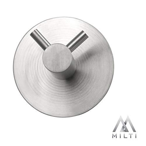 Milti Design Handtuchhaken aus gebürstetem Edelstahl 304