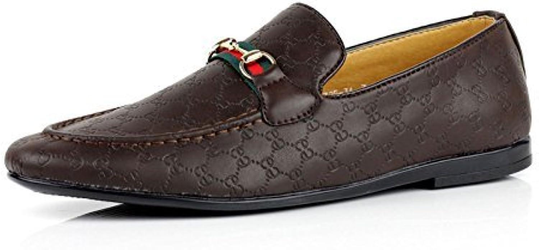 JAS Details über Herren Slipper Mokassins Fashion Slip on Schuhe Kunstleder Uk Größen