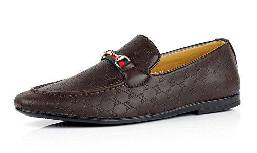 Jas dettagli about da uomo mocassini casual mocassini italiano alla moda scarpe ecopelle misure uk - caffè, 43
