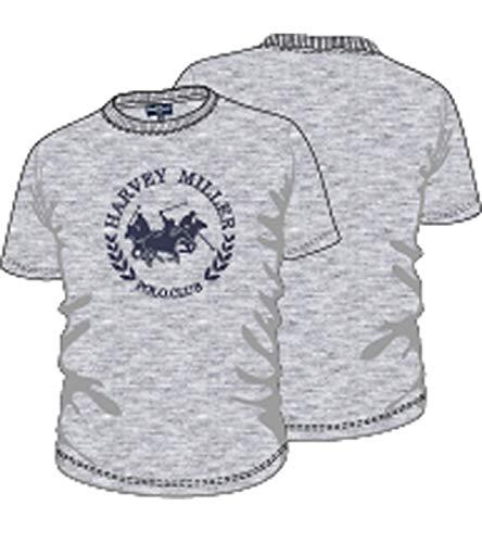 e73f444f8 HARVEY MILLER POLO CLUB Shirt en Coton T-Shirt Simple d'homme avec Logo