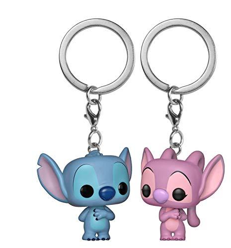 FunKo 36370 Pocket POP! Schlüsselanhänger, Lilo Stitch & Engel, Mehrfarbig, 2 Stück