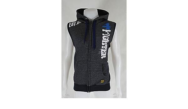 4Fighter HoodiePullover Sleeveless mit Taschen, Zip