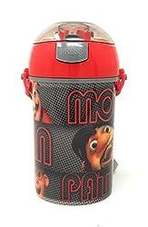 HMI Original Licensed Disney, Marvel & Nickelodeon Character Polypropylene Pop Up Canteen Sipper Bottle / Water Bottle, BPA free, 450 ml (Motu Patlu)