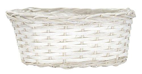 Weide-Korb mit Einsatz weiß 1 Stück - L - 40cm