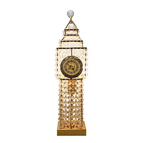 Lampada da tavolo moderna a led in cristallo piccole luci notturne torre dell'orologio design illuminazione apparecchio soggiorno camera da letto comodino
