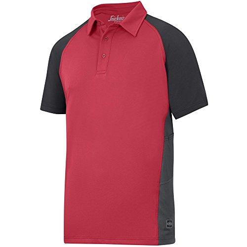 Snickers AVS Polo Shirt, Piquet Gr. S chili-schwarz