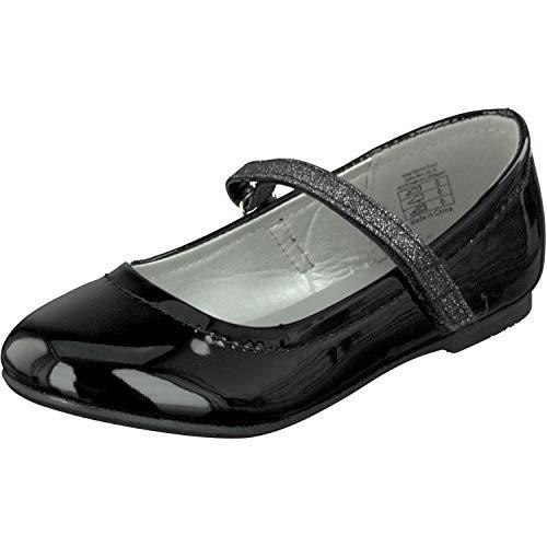 Indigo Mädchen 424 080 Geschlossene Ballerinas, Schwarz (Black Patent), 34 EU