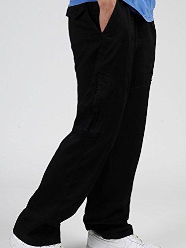 NiSeng Pantaloni da Lavoro Relaxed - Pantaloni da Jogging da Uomo Nero