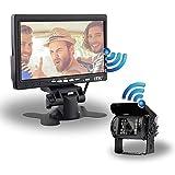 Caméra de recul sans Fils - Camping-Car/Utilitaire / Camion - Étanche - Vision de Nuit 18 LEDs Infrarouges - Écran LCD 7' - Aide au stationnement - ITK Technology (ITKC900WR700WF)