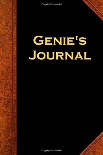 Genie's Journal Vintage Style: (Notebook, Diary, Blank Book) (Scary Halloween Journals Notebooks Diaries)